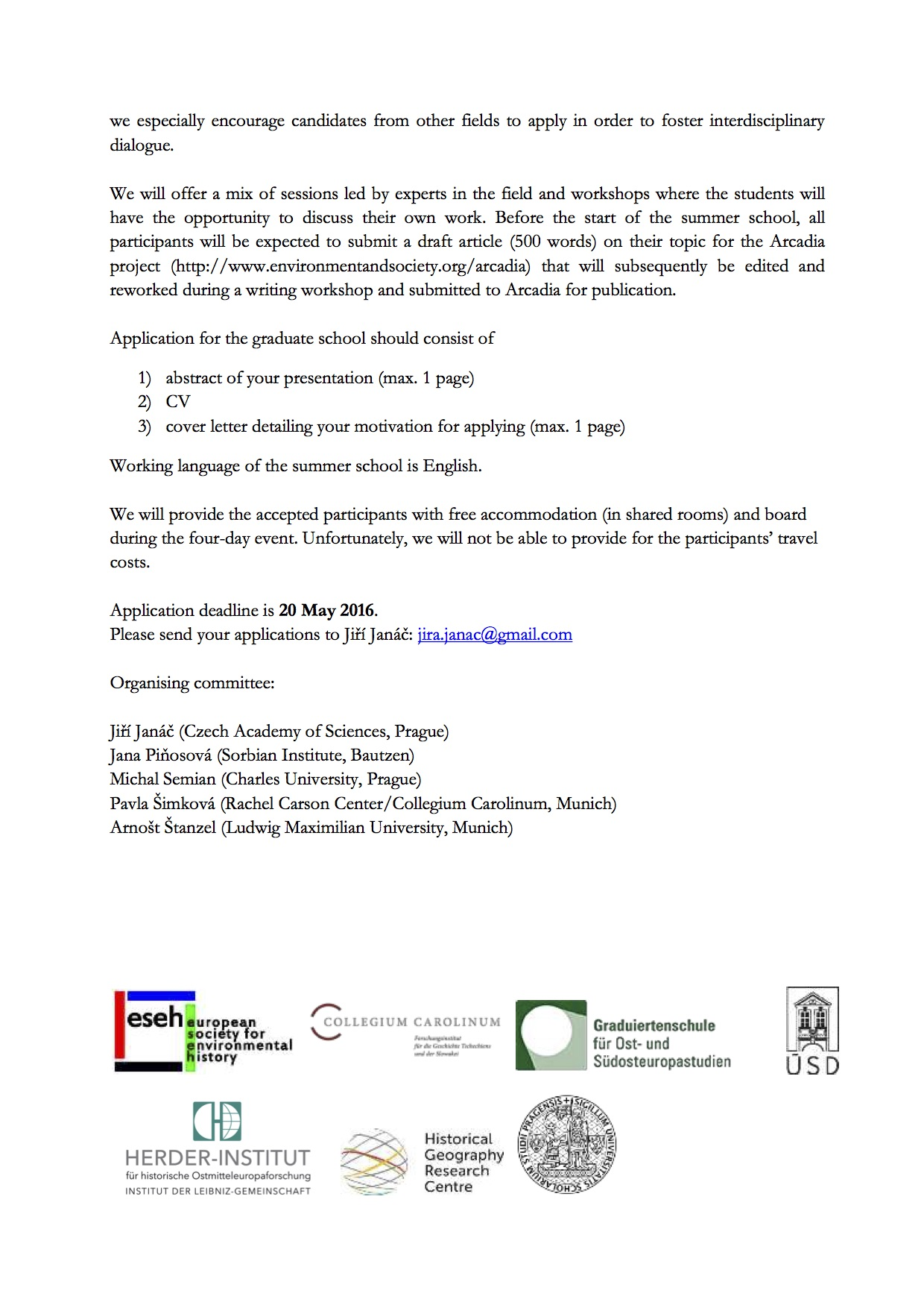 CfP_ESEH_Summer School_Prague_2